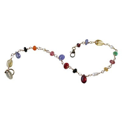 Multi color gemstone bracelet by NYC Jewelry Designer Tina Tang