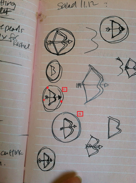 Custom Cufflinks Rough Sketch by NYC Jewelry Designer Tina Tang