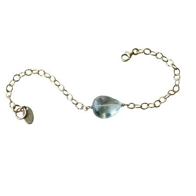 Green Amethyst Gold Fill Bracelet by NYC Jewelry Designer Tina Tang