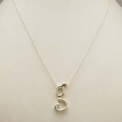 Initial monongram g necklace by NYC Jewelry Designer Tina Tang
