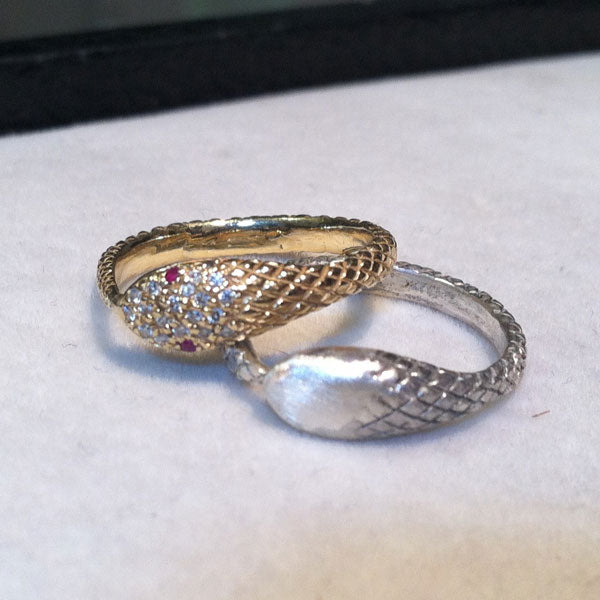 Snake Rings by NYC Jewelry Designer Tina Tang