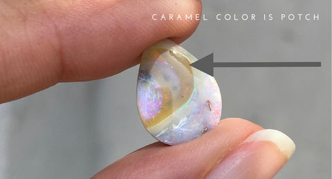 Boulder Opal with Caramel Colored Potch