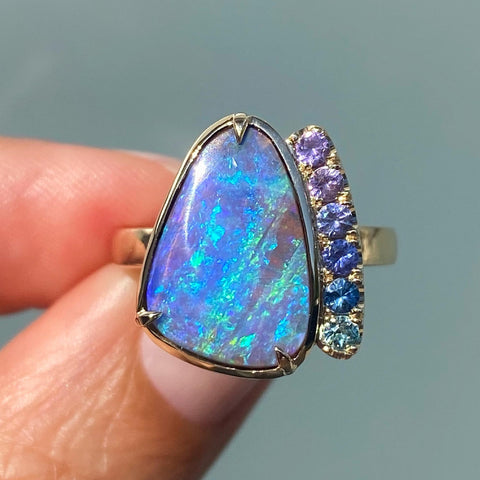 Obscura Ombré Sapphire Lavender Opal Ring