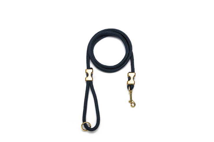 NAVY BLUE ROPE LEASH