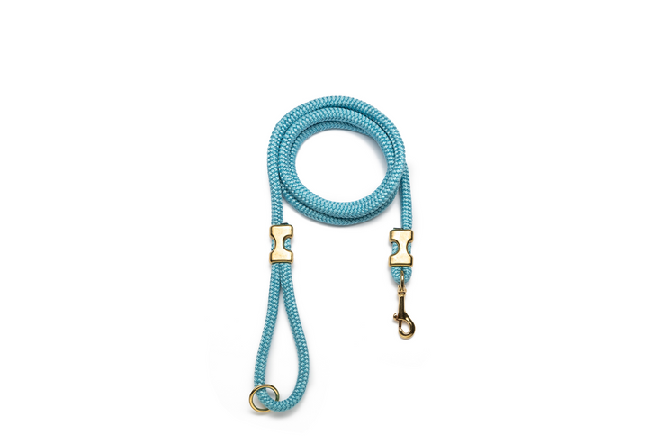 BABY BLUE ROPE LEASH