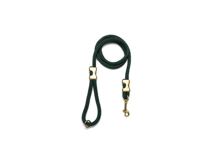 HUNTER GREEN ROPE LEASH