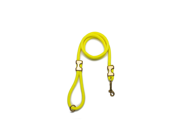 NEON YELLOW ROPE LEASH