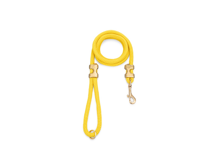 YELLOW ROPE LEASH