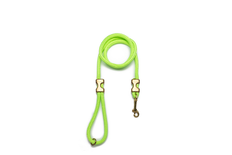 NEON GREEN ROPE LEASH