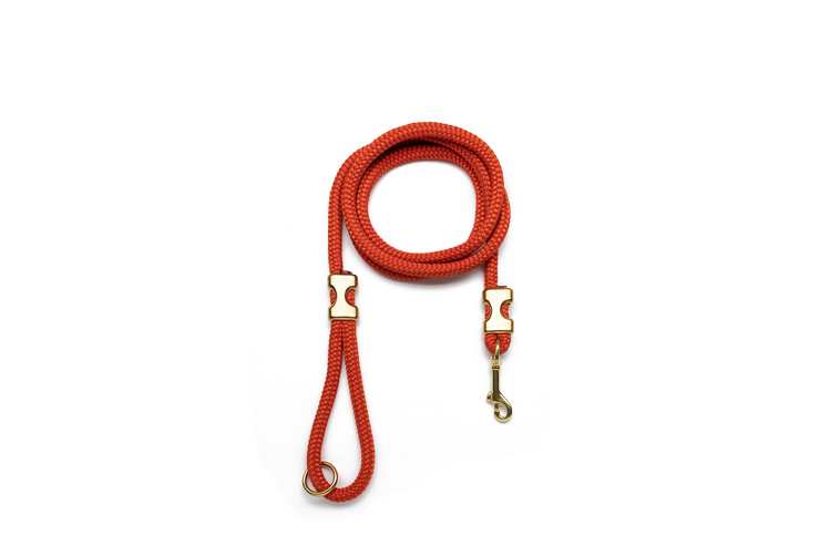 BURNT ORANGE ROPE LEASH