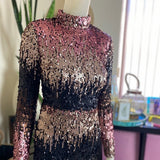 Misguided Ombré Sequin Dress