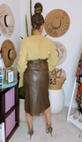Vintage Faux Leather Skirt Sz. 8/10