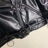 Patent Leather Moto Jacket