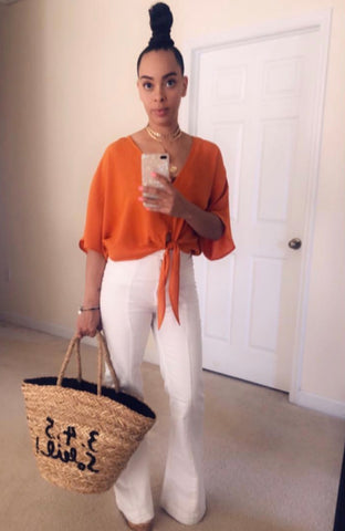 Orange Crop Tie Shirt