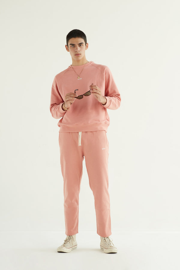 FRENCH TERRY SWEATPANTS - SALMON