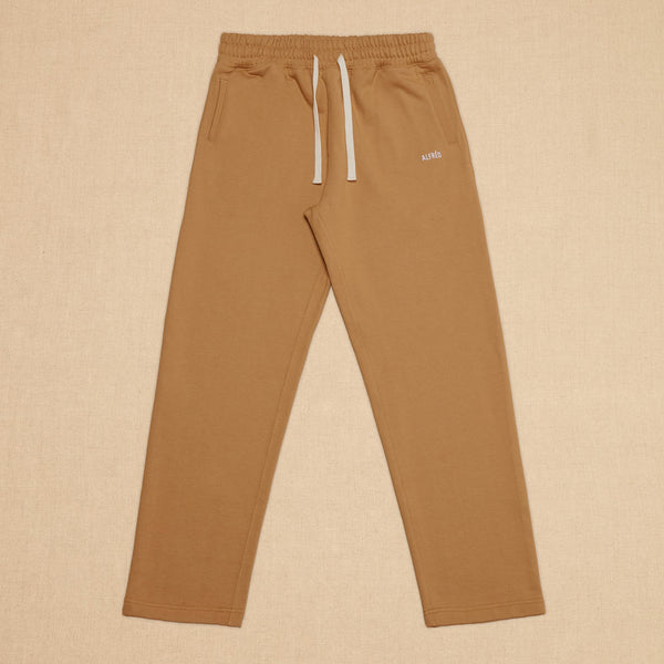FRENCH TERRY SWEATPANTS - TOBACCO