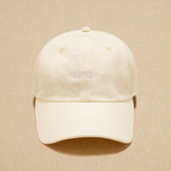 TWILL LOGO CAP - OFF WHITE
