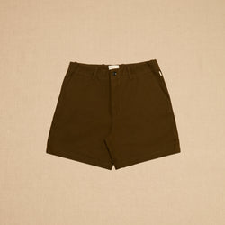 CANVAS SHORTS - OLIVE