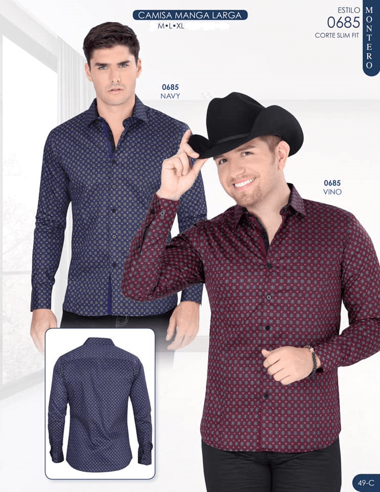 Montero Shirt- Navy Or  Wine