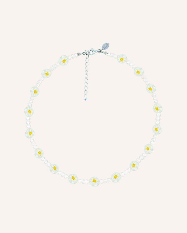 YELLOW FLOWERS CHOKER NECKLACE
