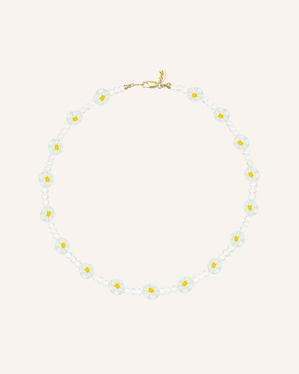 YELLOW FLOWERS NECKLACE