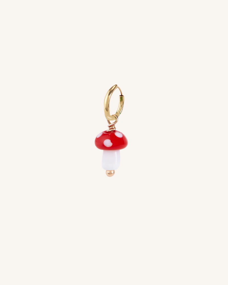 FUNGHI GOLD EARRING
