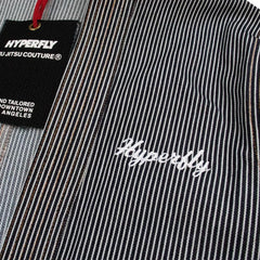 """Engineer"" Stripe Kimono Jacket Apparel - Outerwear Hyperfly"