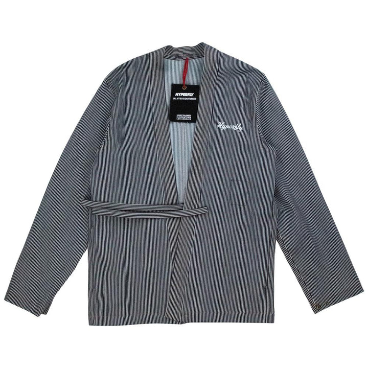 """Engineer"" Stripe Kimono Jacket Apparel - Outerwear Hyperfly Small"