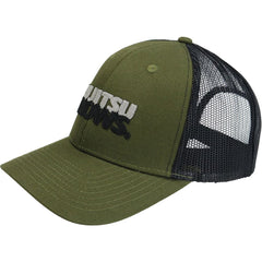 JIU JITSU KNOWS ® Snapback Cap Headwear DO OR DIE Olive