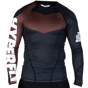 Long Sleeve Supreme Ranked Rash Guard II Rash Guard DO OR DIE Brown X Small