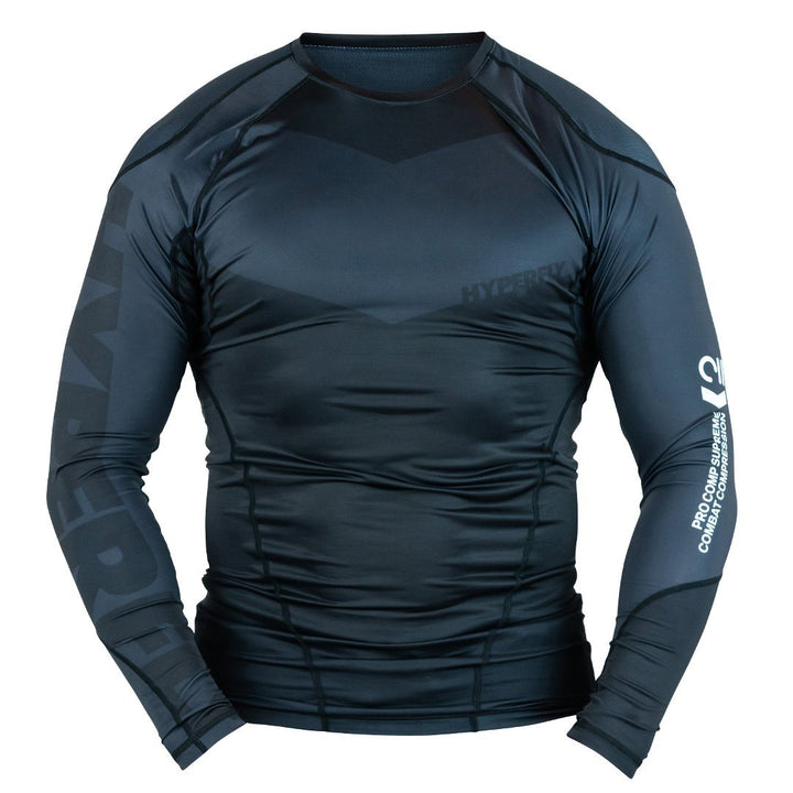 Long Sleeve Supreme Ranked Rash Guard No Gi - Rash Guard Hyperfly