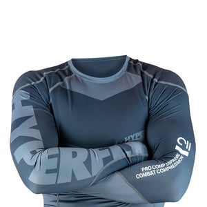 Long Sleeve Supreme Training Rash Guard No Gi - Rash Guard Hyperfly