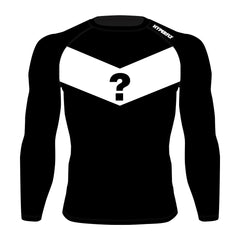 Mystery Rash Guard Hyperfly Long Sleeve Medium Blue
