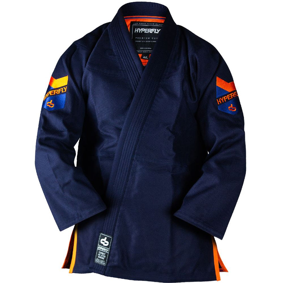 Premium 3.0 KIMONO / GI DO OR DIE Navy w/ Orange A0