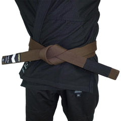 Premium Jiu Jitsu Belt Gi Belts DO OR DIE Brown A0