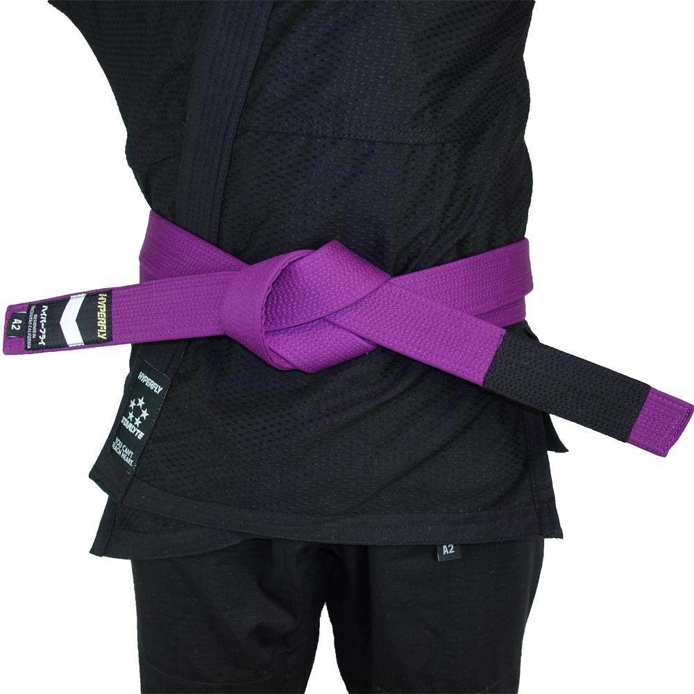 Premium Jiu Jitsu Belt Gi Belts DO OR DIE Purple A0
