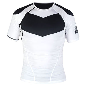 Short Sleeve Supreme Ranked Rash Guard II Rash Guard DO OR DIE Black on White Large