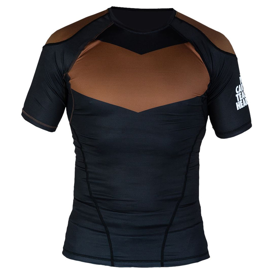 Short Sleeve Supreme Ranked Rash Guard II Rash Guard DO OR DIE Brown Large