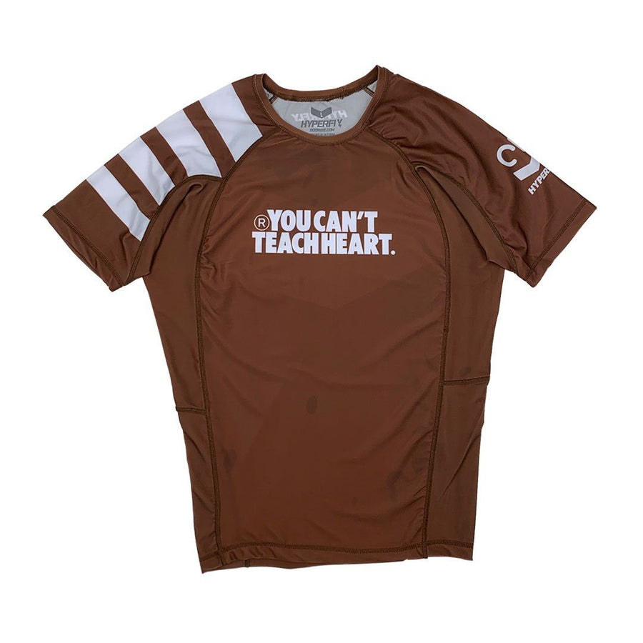 Short Sleeve YCTH. Ranked Rash Guard No Gi - Rash Guard DO OR DIE Brown Small