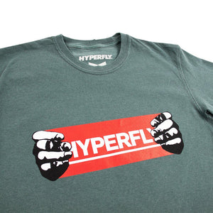 The Hyperfly Hands Tee Apparel - Tee Hyperfly Blue Spruce Small