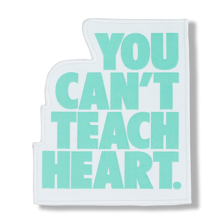 White You Can't Teach Heart. Patch Patch DO OR DIE Teal YCTH