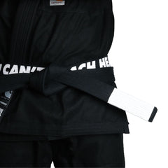 YCTH. Belt Gi Belts DO OR DIE Black - White Bar A6