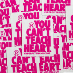 YCTH. Stacked Logo Sticker Sticker DO OR DIE Rose Pink on Clear (3)