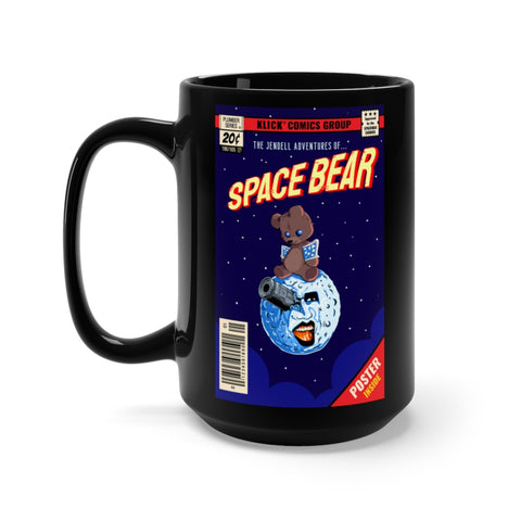 Space Bear - Black Mug 15oz