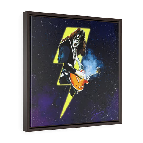 Shock Me - Square Framed Premium Gallery Wrap Canvas