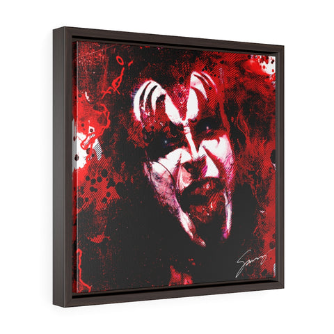 Demon Blood - Square Framed Premium Gallery Wrap Canvas