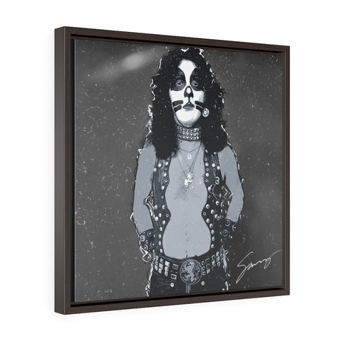The Catman - Square Framed Premium Gallery Wrap Canvas