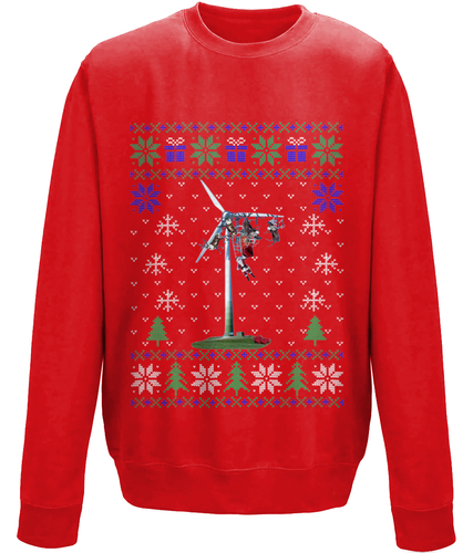 Santa Wind Turbine Crash - Unisex Sweater (6 Colours)