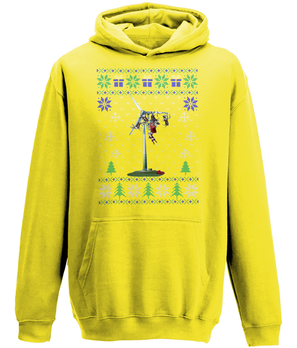 Santa Wind Turbine Crash - Unisex Hoody (6 Colours)