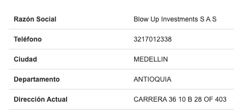 contacto Blowup